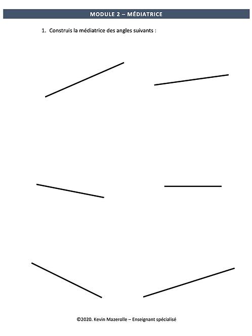 Module 2 - Médiatrice
