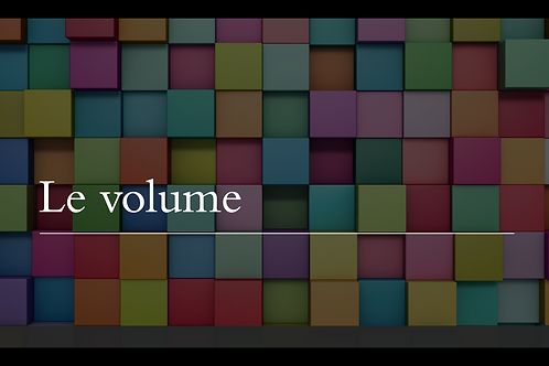 Le volume - PowerPoint
