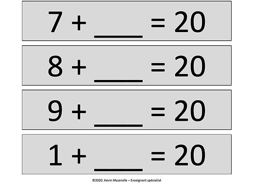 Terme manquant - Total de 20