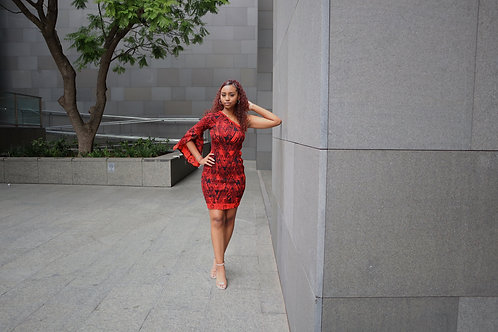 Grace One Shoulder Elastic Dress
