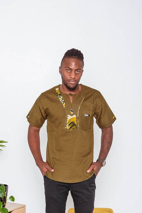Dashiki Men's shirts with print additions