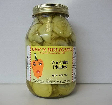 Zucchini Pickles - 32 oz.