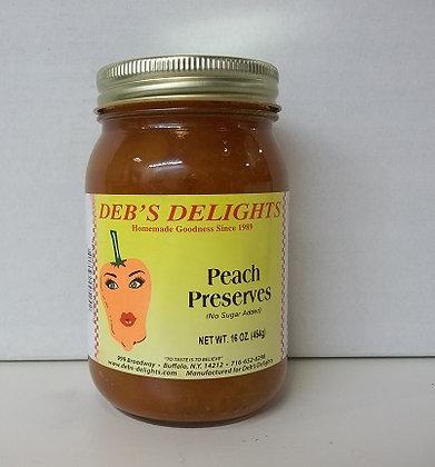 Peach Preserves Juice Sweetened