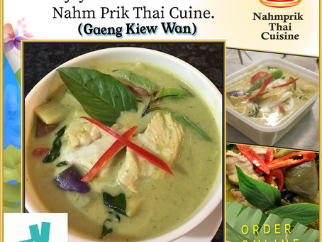 Thai Green Curry at Nahm Prik Thai Cuisine