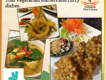 Enjoy fine Thai dining with Vegetarian starters and curry dishes