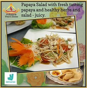 Nahm Prik Thai Cuisine Papaya Salad