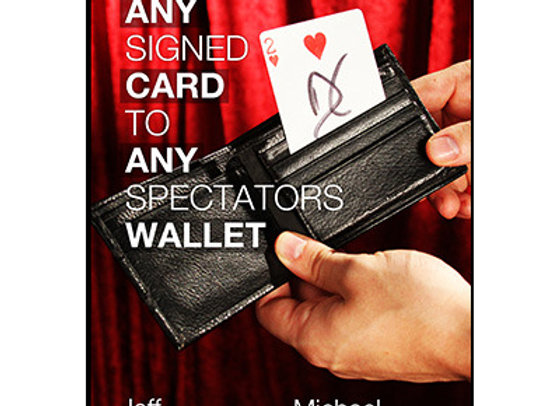 Any Signed Card to Any Spectator's Wallet by Jeff Kaylor (Preowned)