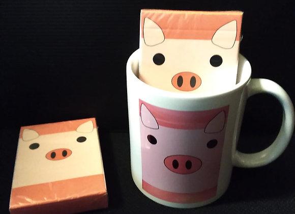 Oink Oink Playing Cards Mug set