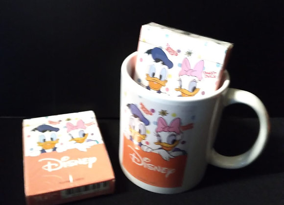 Donald and Daisy Playing Cards Mug set