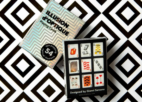 Illusion d'Optique Playing Cards by Art of Play (GV $5)