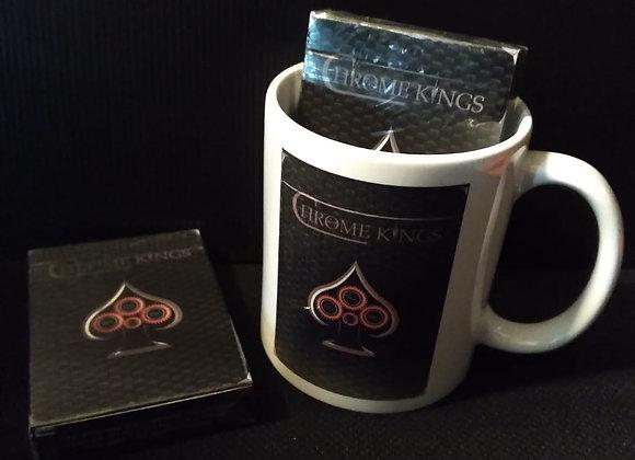 Chrome Kings Carbon Playing Cards (Standard) Mug set