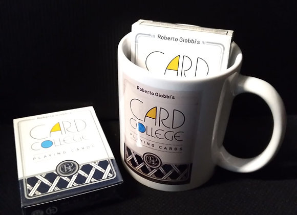 Card College (Blue) Playing Cards by Robert Giobbi Mug set