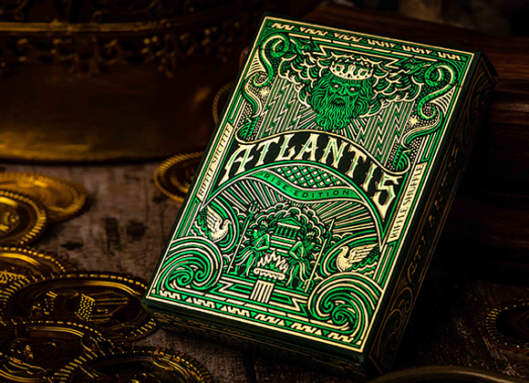 Atlantis Rise Edition Playing Cards by Riffle Shuffle