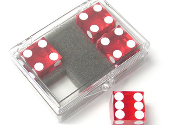 Dice 4-pack Red Near-precision 19mm (casino)