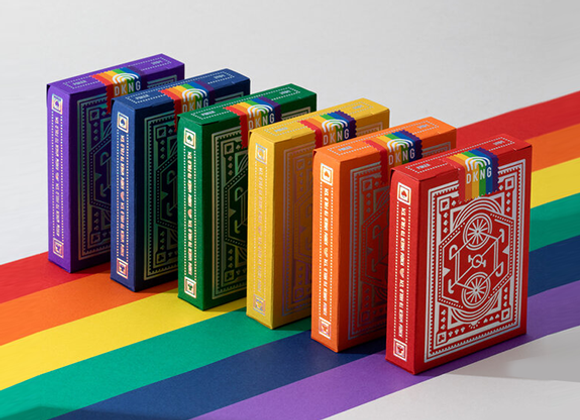 DKNG Rainbow Wheels (Red) Playing Cards by Art of Play (GV $5)