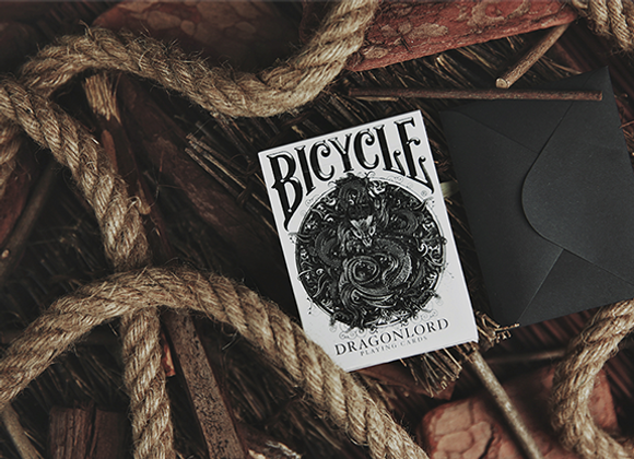 Bicycle Dragonlord White Edition Playing Cards (Includes 5 Gaff Cards) - (GV $2)