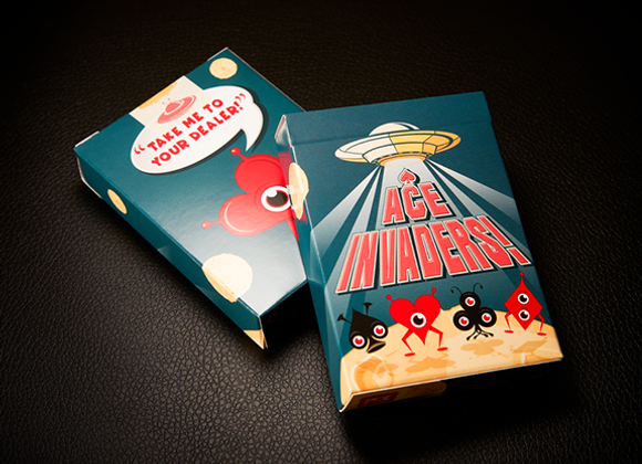 Ace Invaders Playing Cards               (GV $2)