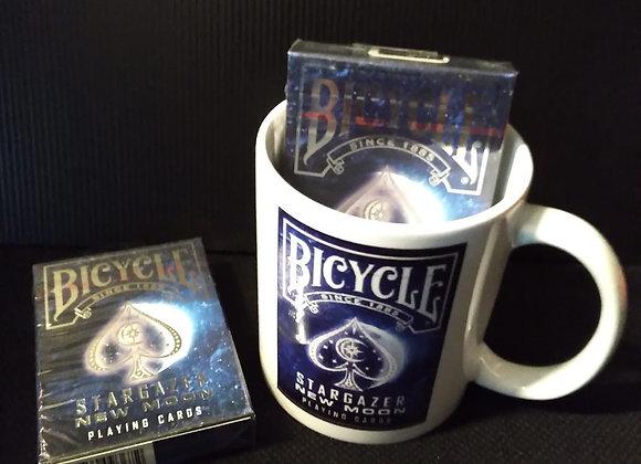 Bicycle Stargazer New Moon Playing Cards Mug set