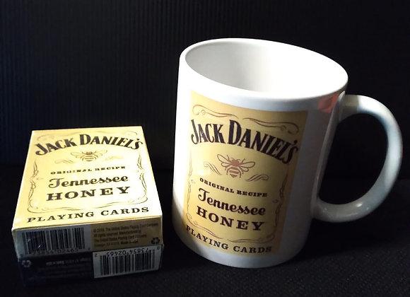 Jack Daniel's Black/Honey Set Playing Cards by USPCC Mug set