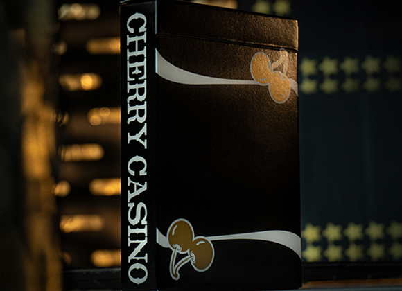 Cherry Casino (Monte Carlo Black and Gold) Playing Cards (GV $4)
