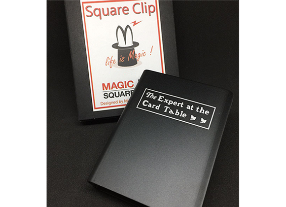 Expert At The Card Table Card Clip (Black) by Magic Square (GV $6)