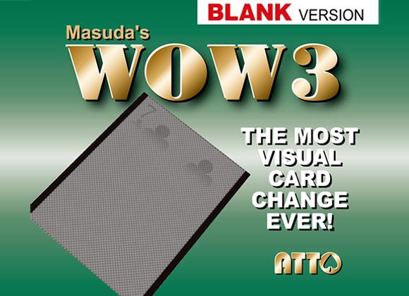 WOW 3.0 Blank by Masuda (GV $12)