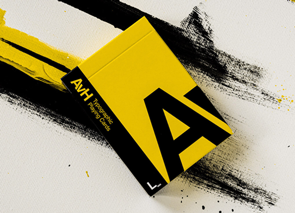 AvH: Typographic Playing Cards by Luke Wadey