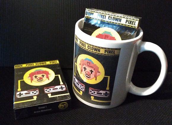 Pixel Clown Playing Cards Mug set