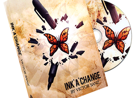 Ink'A'Change (DVD and Gimmick) by Victor Sanz and Balcony Productions (Preowned)