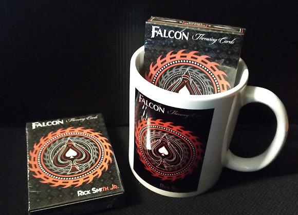 Falcon Razors Throwing Cards Mug set