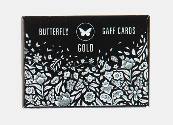 Gaff pack for Butterfly Playing Cards Marked (Black and Gold)-(GV $5)
