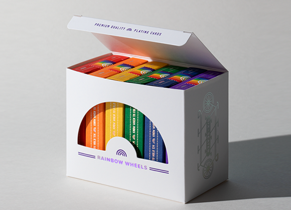 DKNG Rainbow Wheels (6 Seater Box Set) Playing Cards by Art of Play (GV $10)