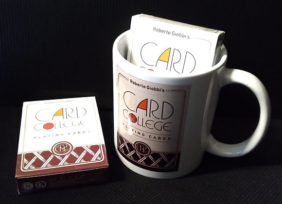 Card College (Red) Playing Cards by Robert Giobbi and TCC Presents Mug set