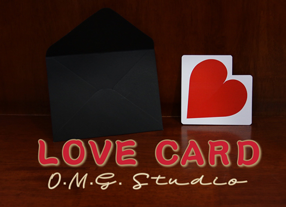 LOVE CARD by O.M.G. Studios  (GV $6)