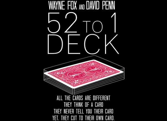 The 52 to 1 Deck by Wayne Fox and David Penn (GV $12)