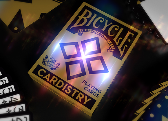 5th anniversary Bicycle Cardistry Playing (Foil) Cards by Handlordz (GV $4)