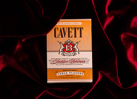 No.13 Table Players Vol. 4 (Cavett) Playing Cards by Kings Wild Project (GV $4)