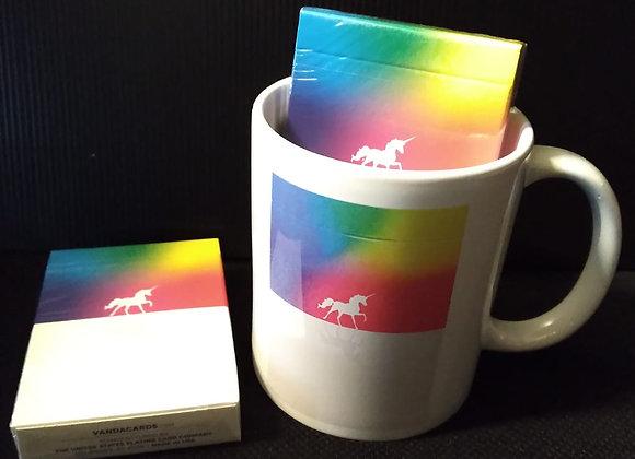 Unicorn Playing Cards Mug set
