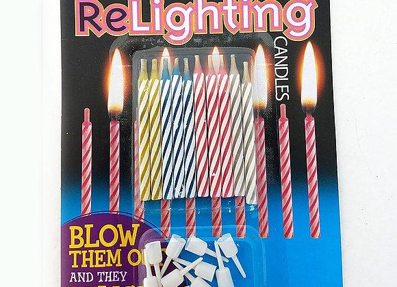 Everlit ReLighting Birthday Candles