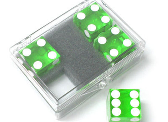 Dice 4-pack green Near-precision 19mm (casino)
