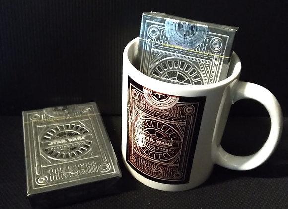 Star Wars Dark Side Silver Edition Playing Cards (Graphite Grey) by theory11 Mug