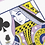 Thumbnail: Black Roses Lavender (Marked) Edition Playing Cards
