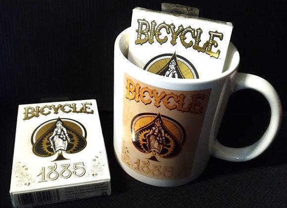 Bicycle 1885 Playing Cards Mug set