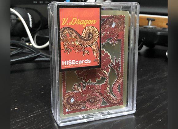 Dragon Transparent Playing Cards (Fire Red)