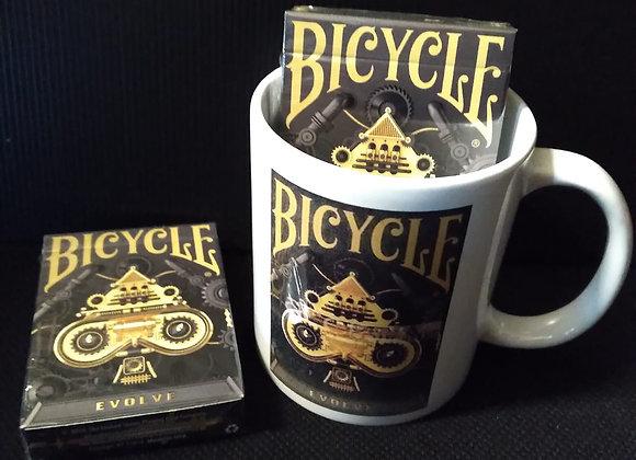 Bicycle Evolve Playing Cards Mug set