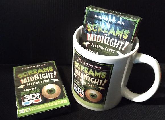 Screams at Midnight Playing Cards Mug set