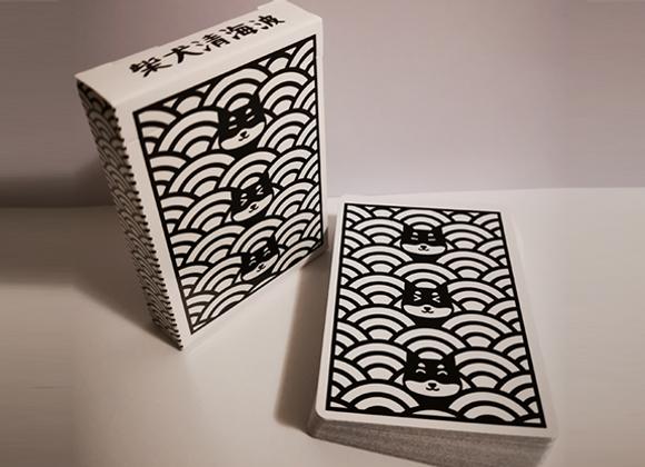 Shiba Seigaiha Playing cards