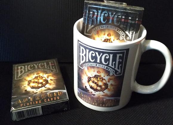 Bicycle Asteroid Playing Cards Mug set