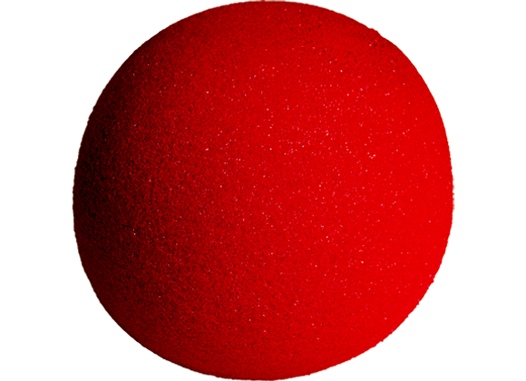 One Red Sponge Ball
