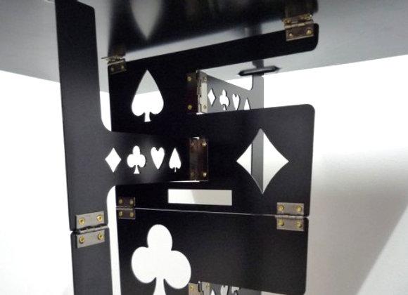 Folding Table (Aluminium,Black,Thick)